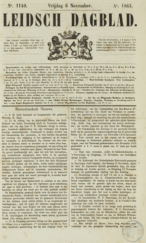Leidsch Dagblad 1863-11-06