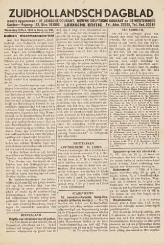 Zuidhollandsch Dagblad 1944-11-22