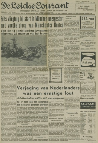 Leidse Courant 1958-02-07