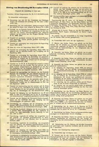 Handelingen van de Raad 1916-11-23