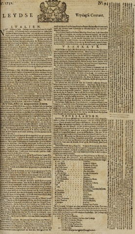 Leydse Courant 1751-08-06
