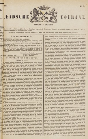 Leydse Courant 1884-01-11