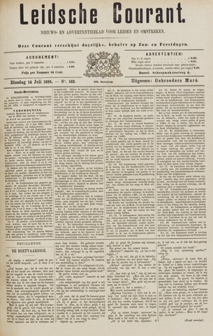 Leydse Courant 1885-07-14