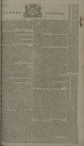 Leydse Courant 1745-01-27