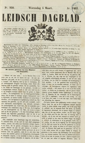 Leidsch Dagblad 1863-03-04