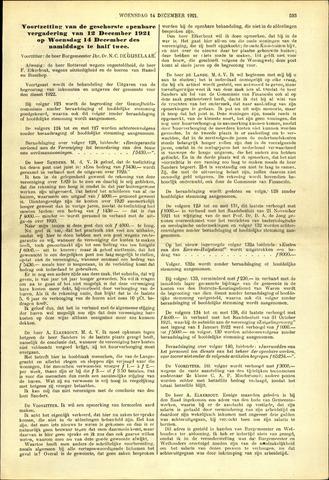 Handelingen van de Raad 1921-12-14