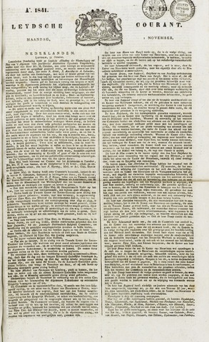 Leydse Courant 1841-11-01
