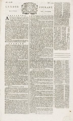 Leydse Courant 1818-10-05