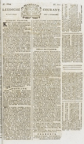 Leydse Courant 1824-09-15