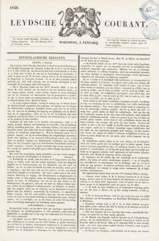 Leydse Courant 1850