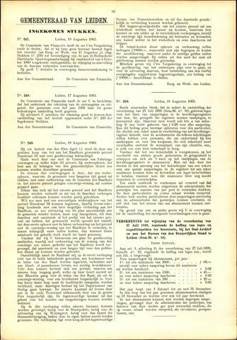 Handelingen van de Raad 1903-08-19