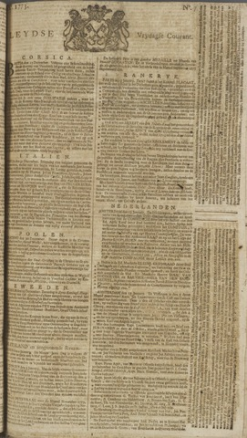 Leydse Courant 1773-01-15