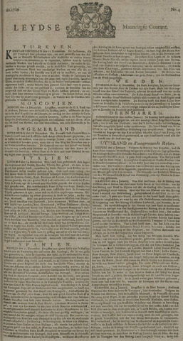 Leydse Courant 1729-01-10