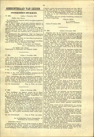 Handelingen van de Raad 1909-11-06