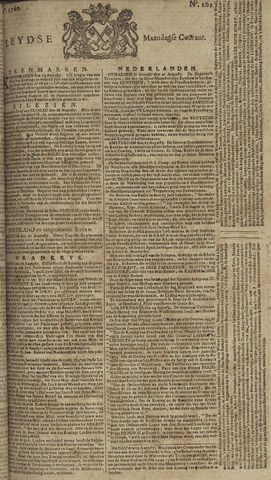 Leydse Courant 1760-08-25