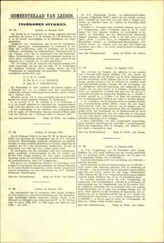 Handelingen van de Raad 1938-01-14