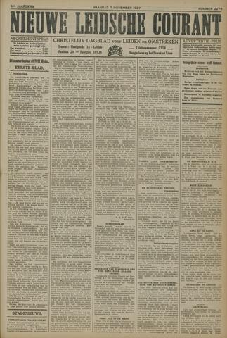 Nieuwe Leidsche Courant 1927-11-07