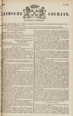 Leydse Courant 1884-02-21