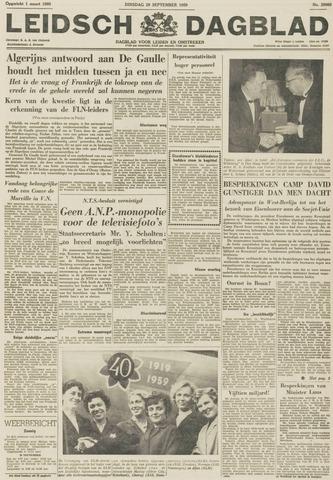 Leidsch Dagblad 1959-09-29
