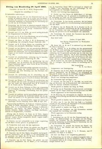 Handelingen van de Raad 1901-04-18