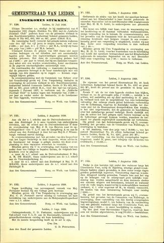 Handelingen van de Raad 1926-07-31