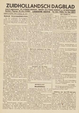 Zuidhollandsch Dagblad 1944-11-25
