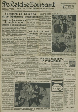 Leidse Courant 1958-02-19