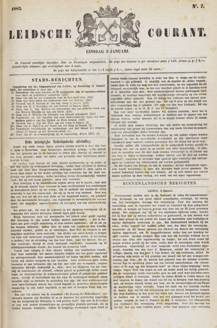 Leydse Courant 1883-01-09