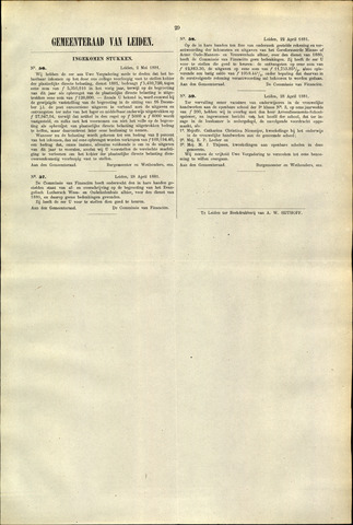 Handelingen van de Raad 1881-05-02
