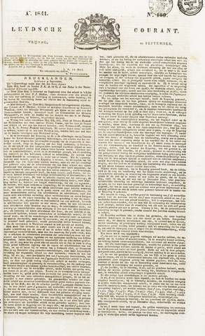 Leydse Courant 1841-09-10