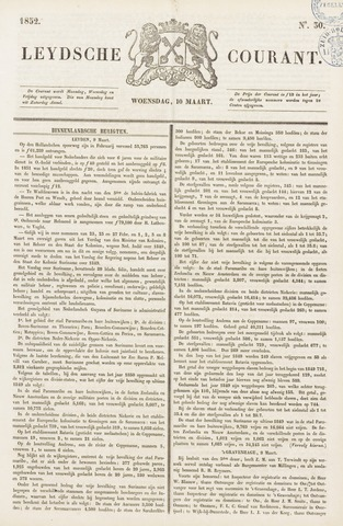 Leydse Courant 1852-03-10