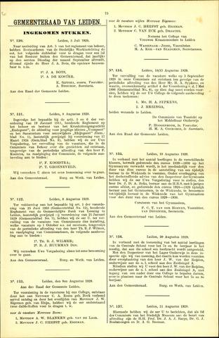 Handelingen van de Raad 1929-07-05