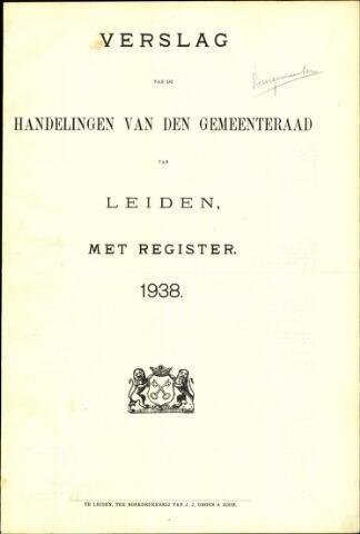 Handelingen van de Raad 1938-01-01