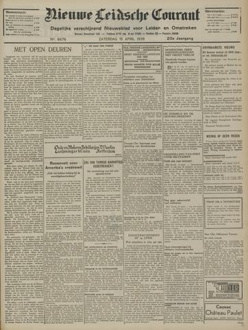 Nieuwe Leidsche Courant 1939-04-15