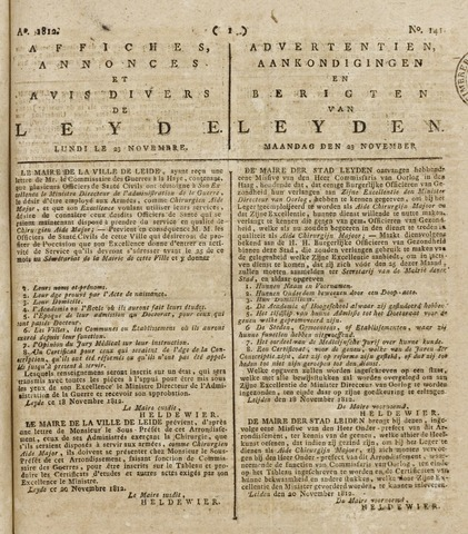 Leydse Courant 1812-11-23