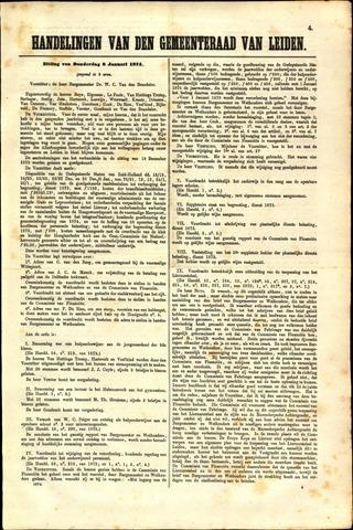 Handelingen van de Raad 1874-01-08