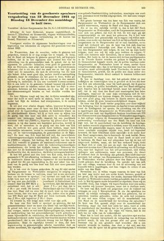 Handelingen van de Raad 1921-12-13