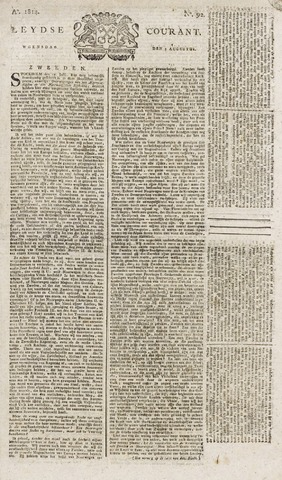 Leydse Courant 1814-08-03
