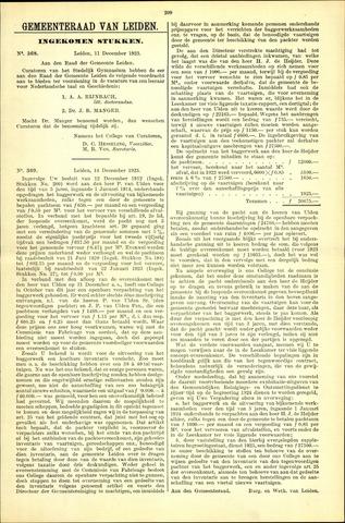 Handelingen van de Raad 1923-12-11