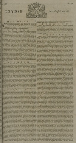 Leydse Courant 1722-12-21