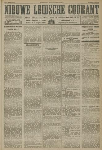 Nieuwe Leidsche Courant 1927-11-30