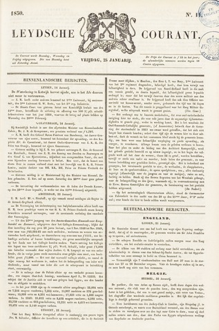 Leydse Courant 1850-01-25