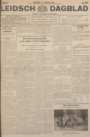 Leidsch Dagblad 1930-08-25