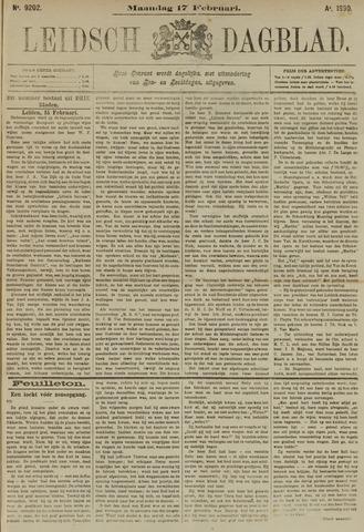 Leidsch Dagblad 1890-02-17