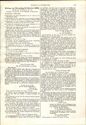 Handelingen van de Raad 1906-10-31