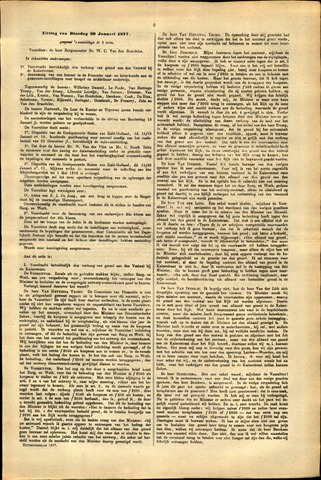 Handelingen van de Raad 1877-01-30