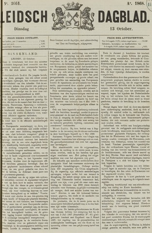 Leidsch Dagblad 1868-10-13