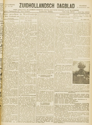 Zuidhollandsch Dagblad 1944-08-14