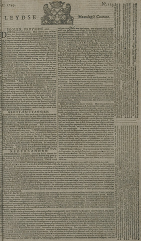 Leydse Courant 1749-10-13
