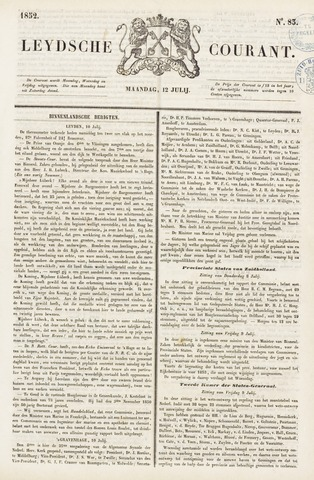 Leydse Courant 1852-07-12